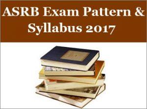 ASRB NET Syllabus 2017