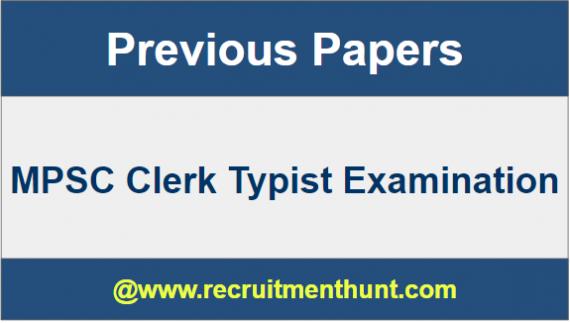 MPSC Clerk Typist Model Papers