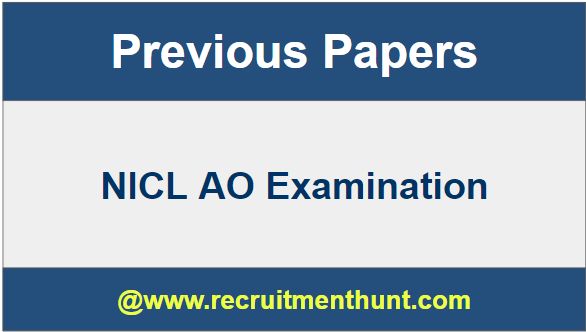 NICL AO Examination 2019