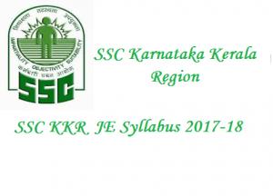 SSC Karnataka Kerala Region JE Syllabus