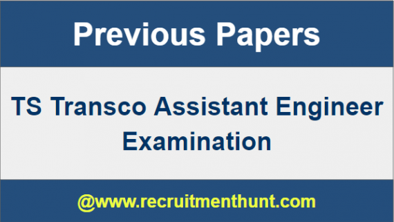TS Transco Assistant Engineer Previous Year Question Papers
