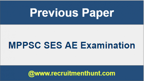 MPPSC SES AE Previous Year Question Paper