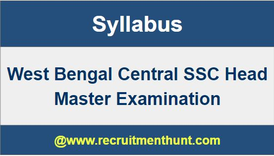 West Bengal Central SSC Head Master