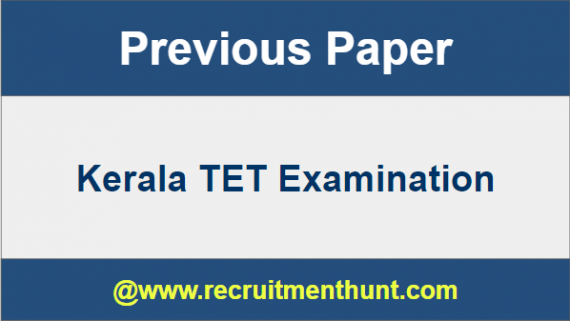 SOLVED] Download Kerala TET Previous Year Question Papers