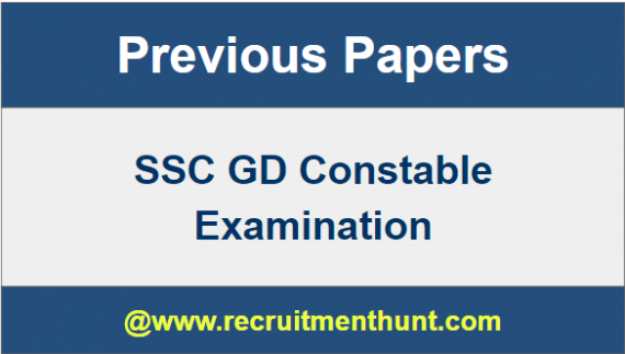 SSC GD Previous Papers