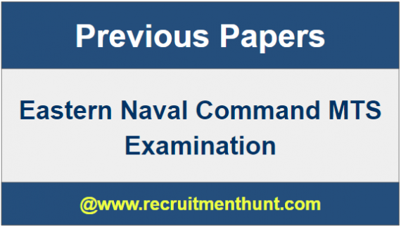 Eastern Navy MTS Question Papers