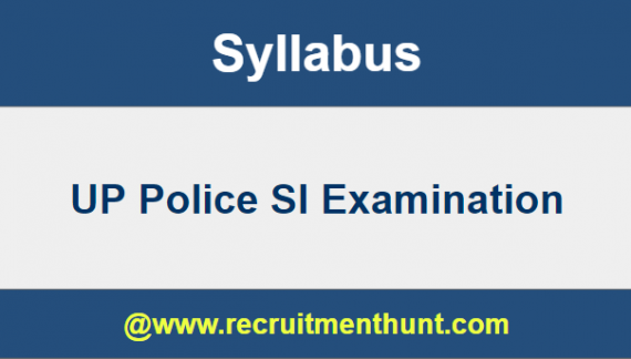 up police si syllabus 2018