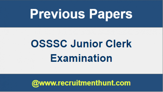 OSSSC Junior Clerk Previous Papers