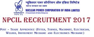 NPCIL ITI Trade Apprentice Recruitment