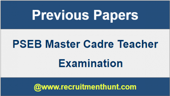 PSEB Master Cadre Previous Papers