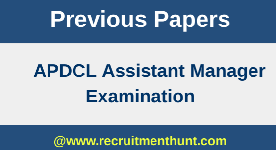 APDCL Assistant Manager Previous Paper