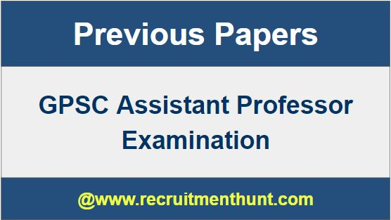 GPSC Assistant Professor Syllabus