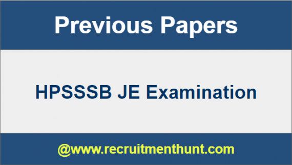 HPSSSB JE Previous Year Question Papers