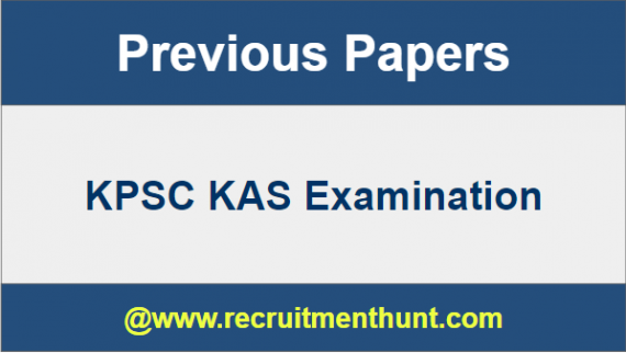 KPSC KAS Previous Papers