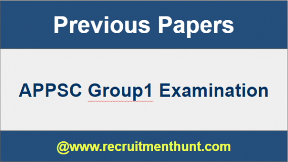 APPSC Group1 Previous Papers