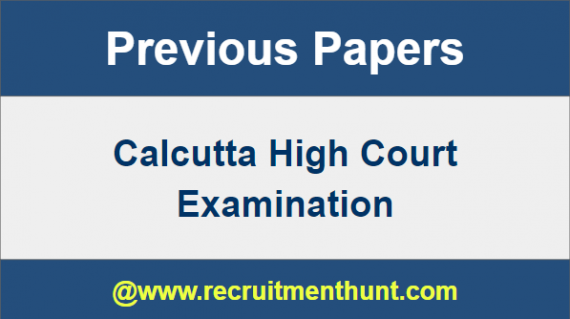Calcutta HC Question Papers