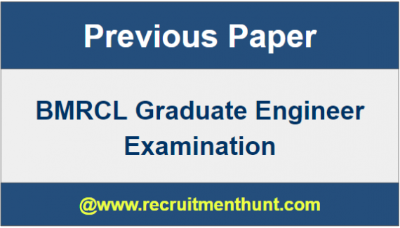 BMRCL Graduate Engineer Exam