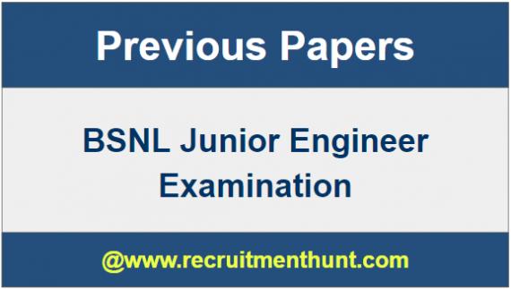BSNL JE Exam Papers