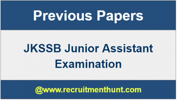 JKSSB Junior Assistant Question Papers