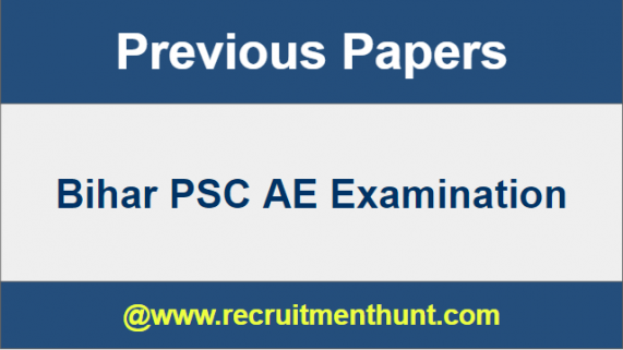 Bihar PSC AE Previous Year Question Papers