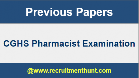 CGHS Pharmacists Previous Paper