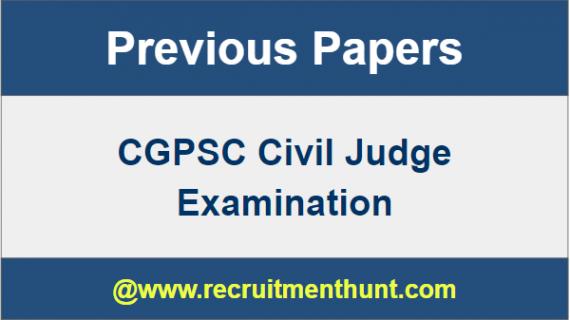 CGPSC Civil Judge Previous Papers