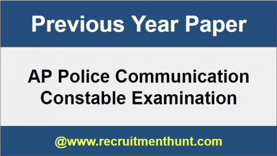 AP Police Communication Constable Previous Papers