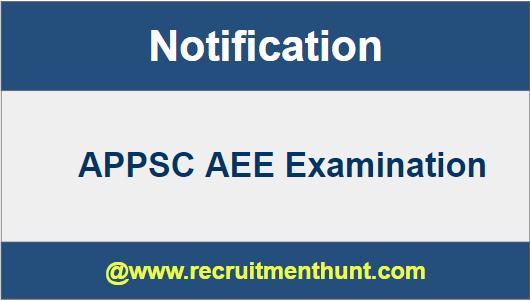 APPSC AEE Notification 2018