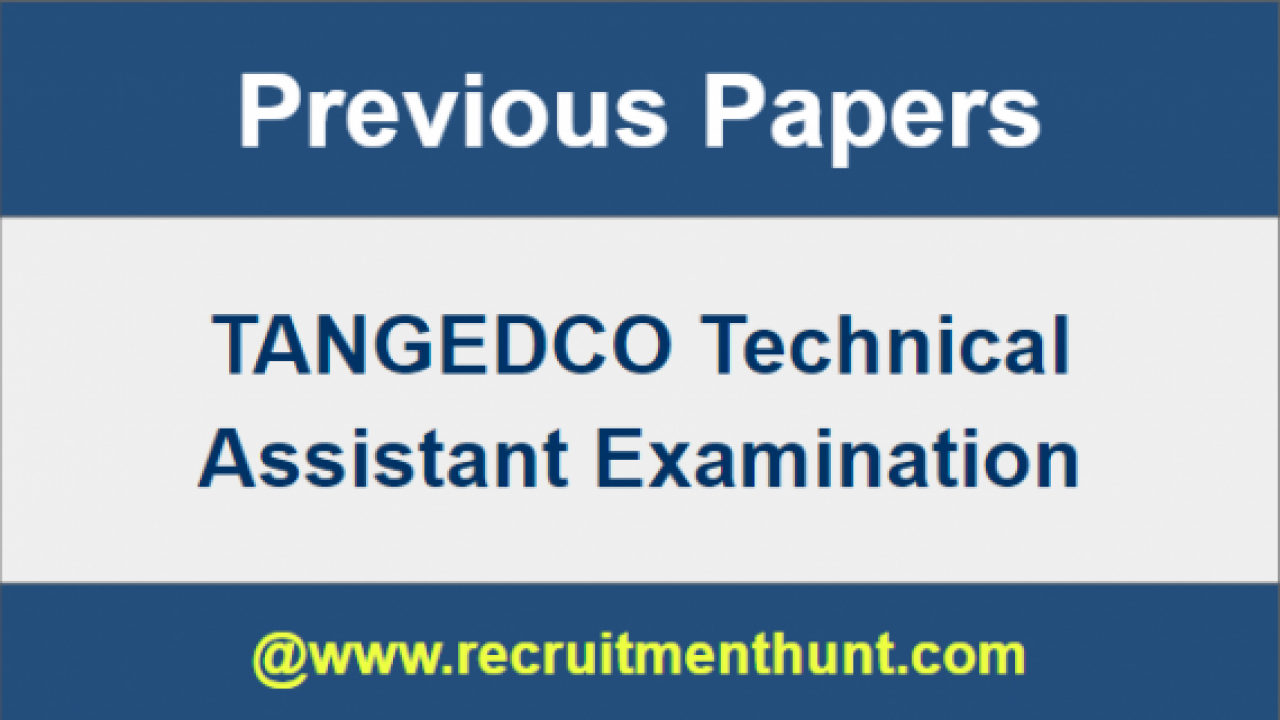UPDATED] Download TANGEDCO Technical Assistant Syllabus