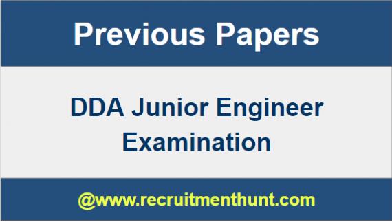 DDA Junior Engineer Question Papers