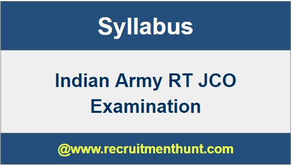 Indian Army RT JCO Syllabus
