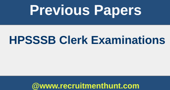 HPSSSB Clerk Previous Papers
