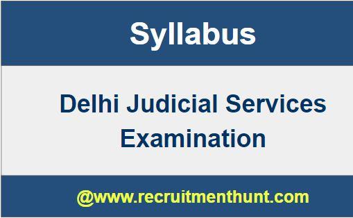 Delhi Judicial Services Exam Syllabus 2019