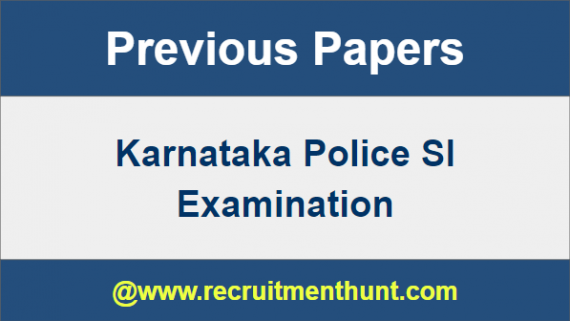 Karnataka Police SI Previous Papers