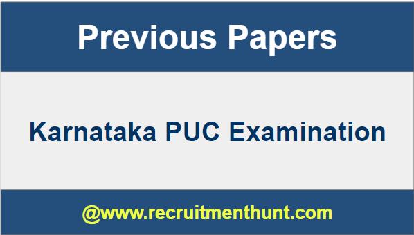 Karnataka PUC Previous Year Question Papers