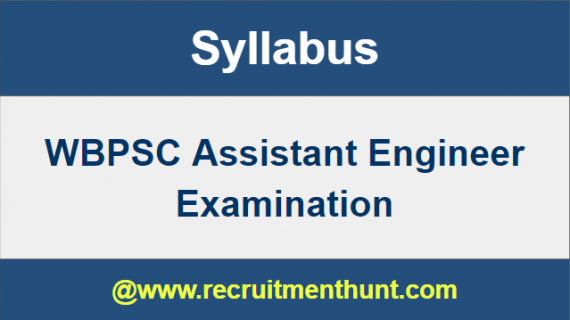 WBPSC Assistant Engineer Syllabus