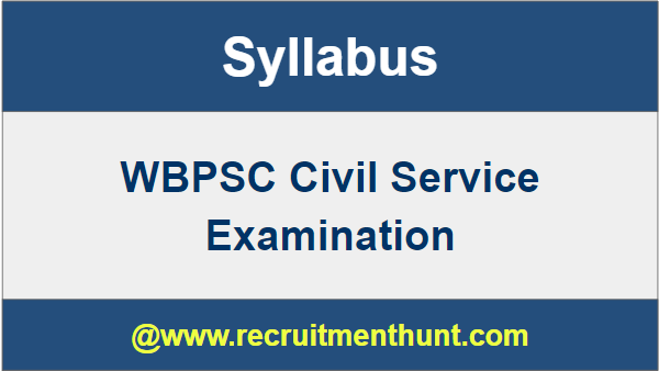 wbcs syllabus pdf download