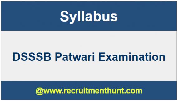 DSSSB Patwari Exam Syllabus
