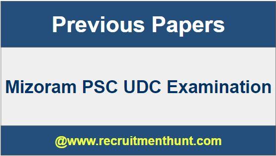 Mizoram PSC UDC Examination 2019