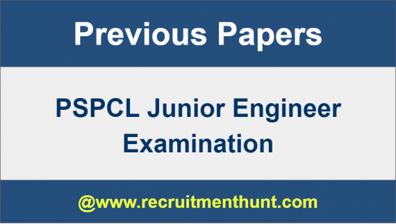 PSPCL Junior Engineer Previous Year Question Papers