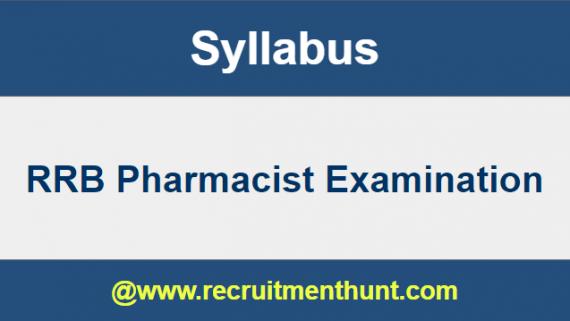 RRB Pharmacist Syllabus