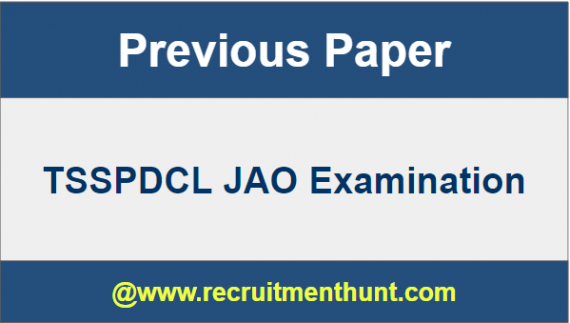 TSSPDCL JAO Old Question Papers
