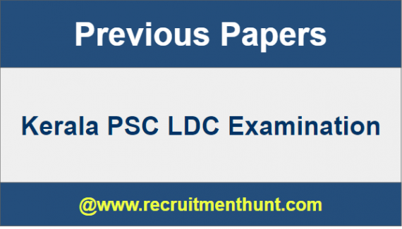 Kerala PSC LDC Previous Question Papers