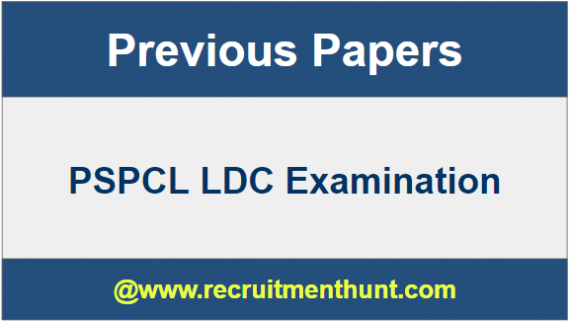 PSPCL LDC Previous Year Question Papers