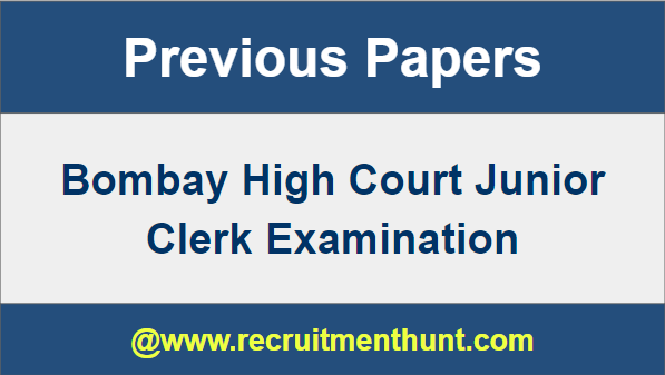 Bombay High Court Junior Clerk Previous Papers