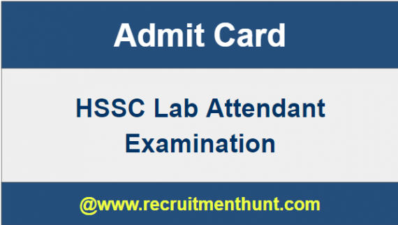 admit card of lab assistant