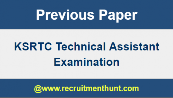 KSRTC Technical Assistant Previous Papers