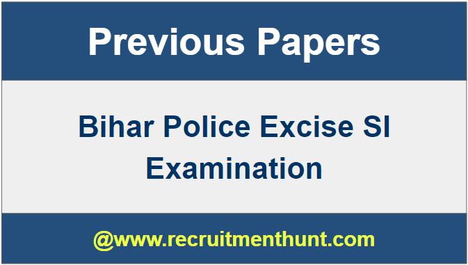 Bihar Police Excise Si Syl;labus