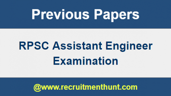 RPSC Assistant Engineer Previous Question Paper