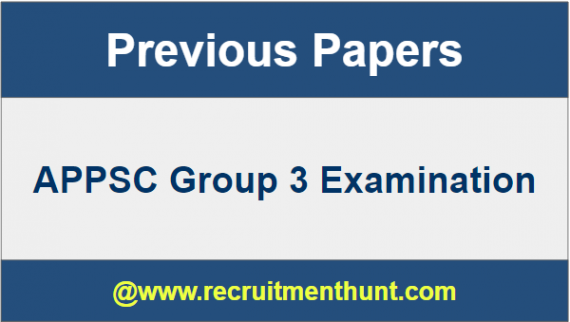 APPSC Group 3 Previous Papers